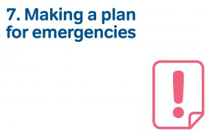 7 making a plan for emergencies