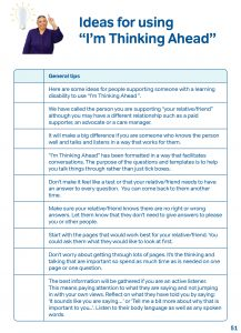 ideas for using im thinking ahead