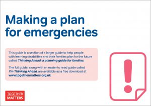 'Making a plan for emergencies' cover