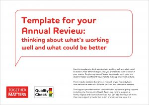 Template for your Annual Review